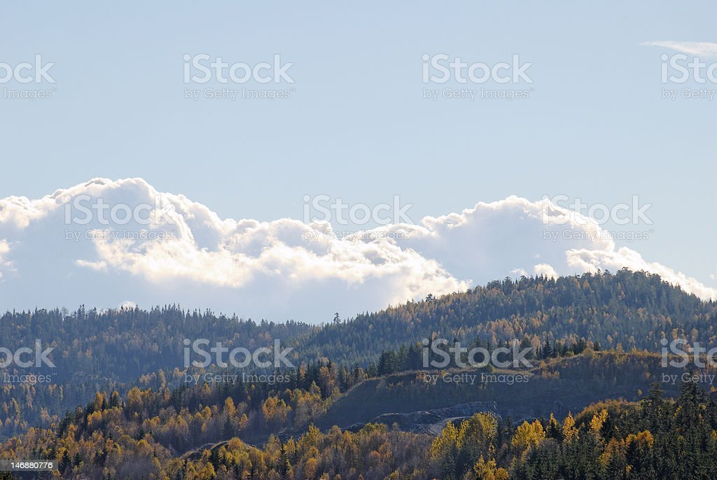 Clouds over Mountains stock photo