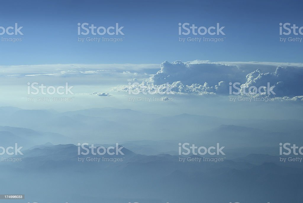 Clouds Over Mountains royalty-free stock photo