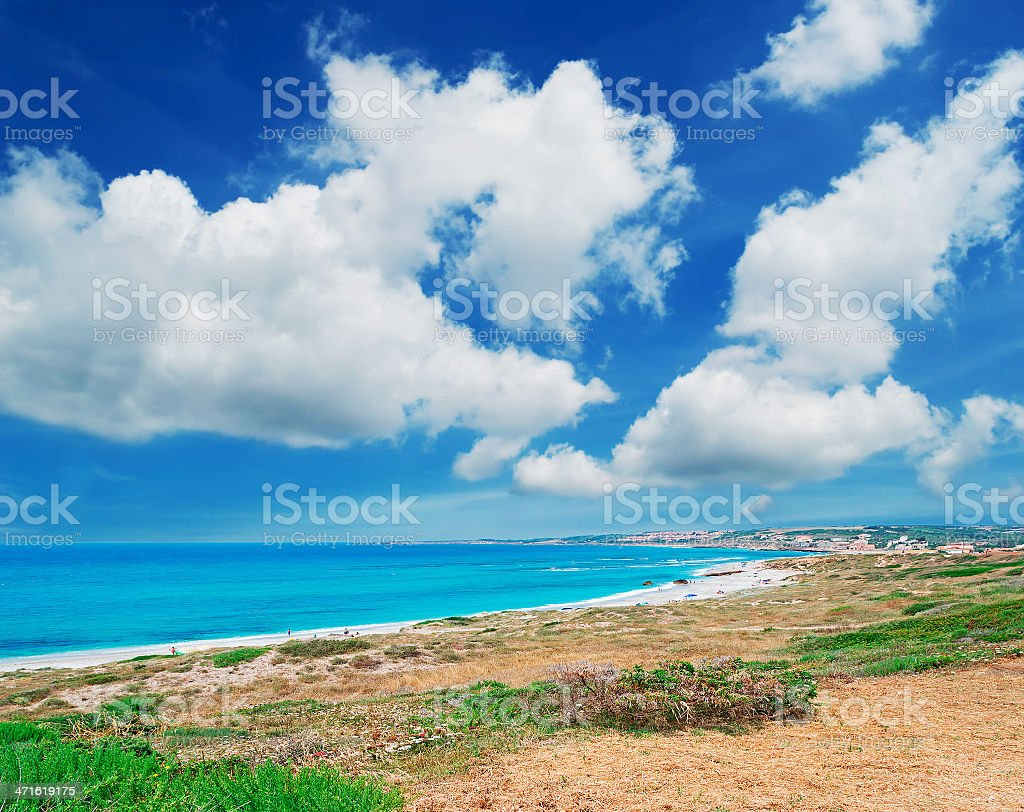 clouds over San Giovanni beach royalty-free stock photo