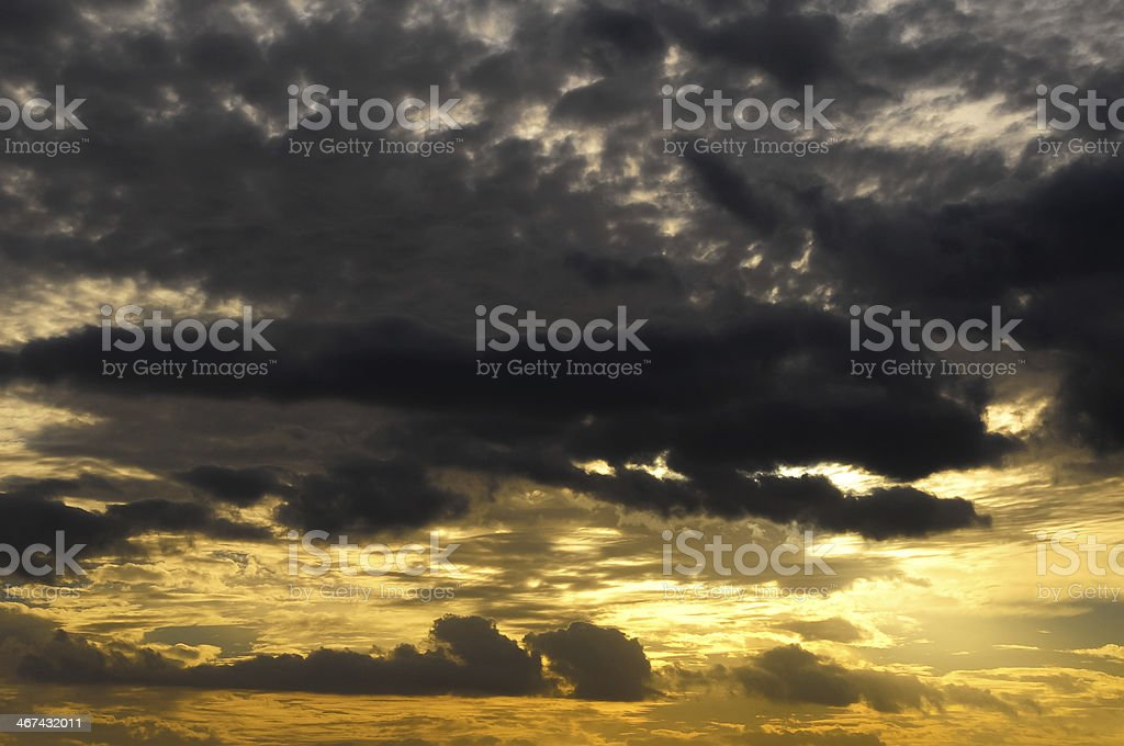 Clouds over the Atlantic Ocean royalty-free stock photo