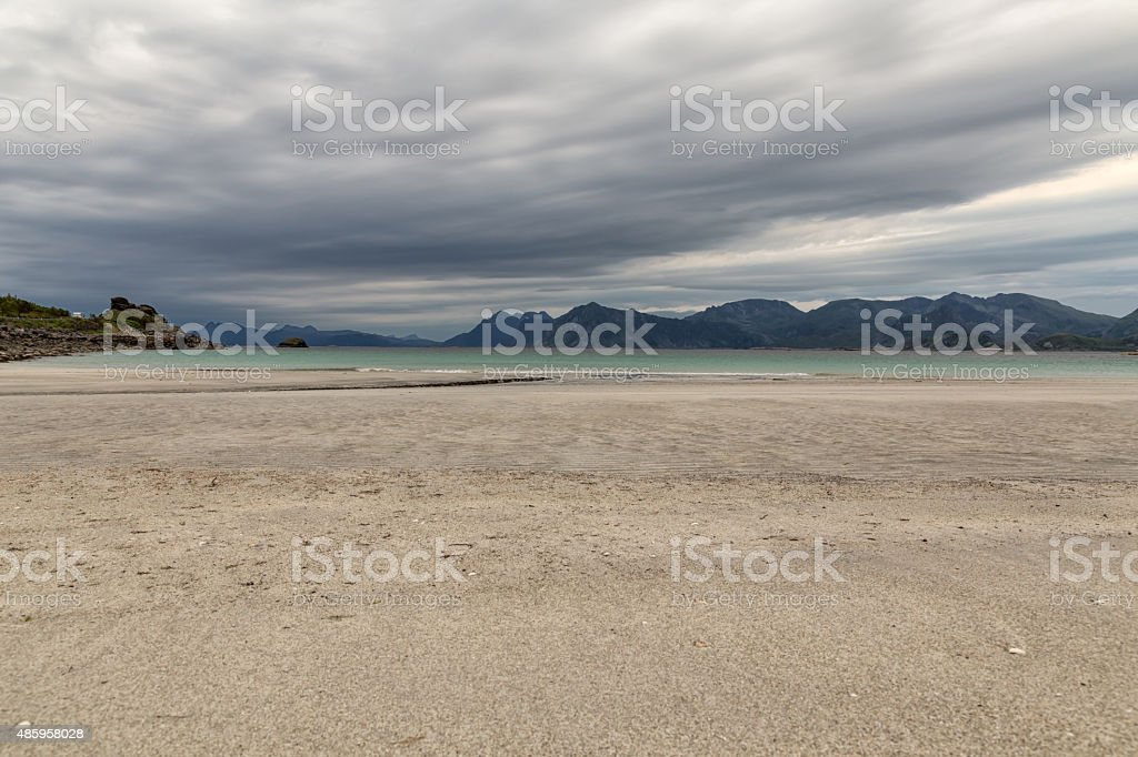 Clouds over the beach royalty-free stock photo