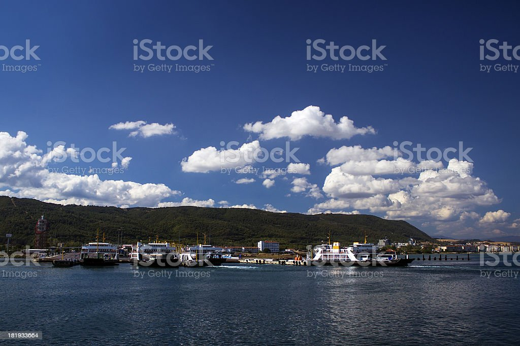 Clouds over the Ferries royalty-free stock photo