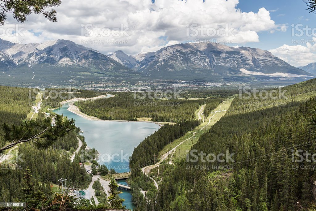 Clouds over the Rocky Mountains stock photo