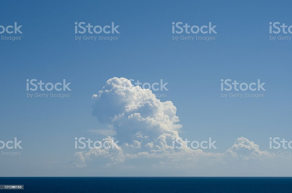 Clouds over the sea, Greece royalty-free stock photo