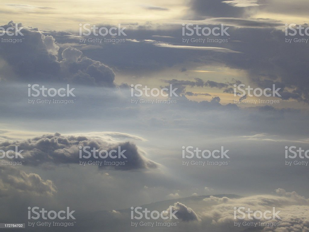 Clouds over Volcano royalty-free stock photo