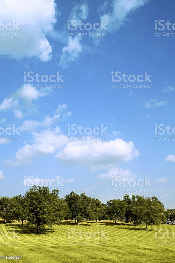 Clouds, Park and Sky stock photo