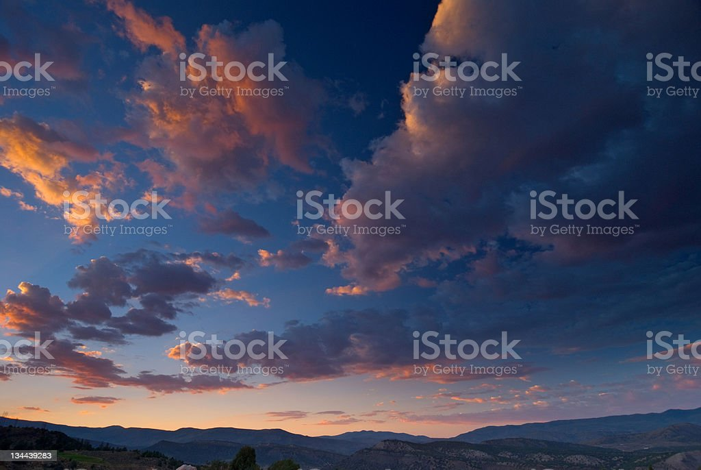 Clouds Red Sky royalty-free stock photo