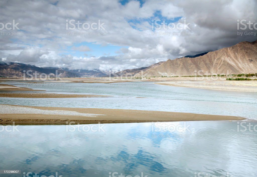Clouds Reflected In Water royalty-free stock photo