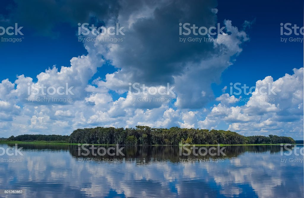 Clouds Reflected in Water stock photo