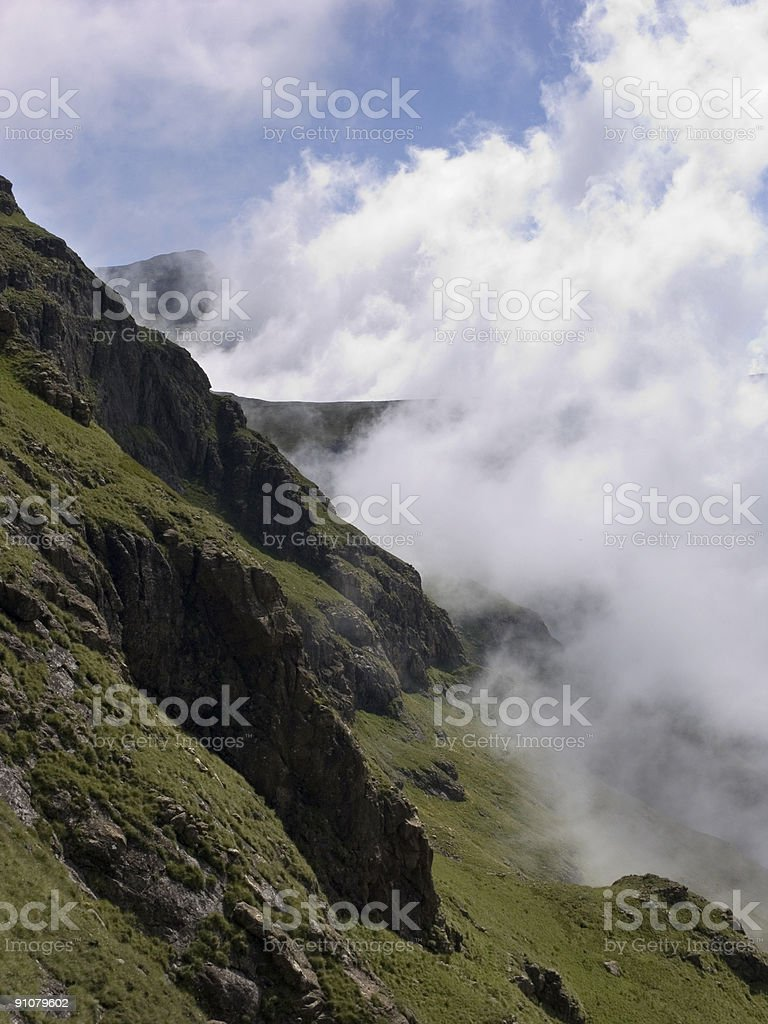 Clouds Rising off the Drakensberg royalty-free stock photo