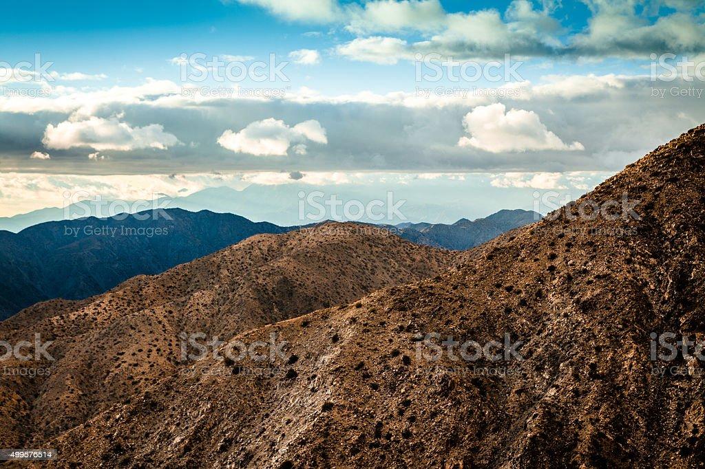 Clouds Rolling Over The Little San Bernardino Mountain Range royalty-free stock photo