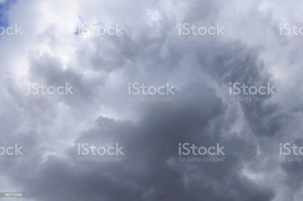 Clouds showing the weather changing royalty-free stock photo