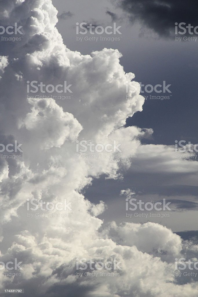 Clouds Sky Blue Stormy Heaven royalty-free stock photo