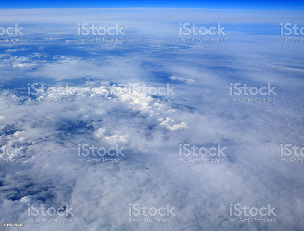 clouds skyline stock photo