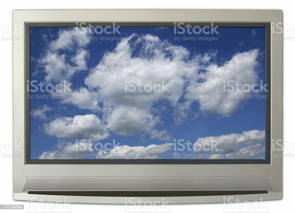 clouds tv stock photo