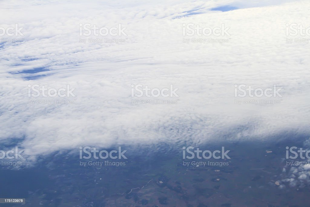 Clouds. view from the window of an airplane royalty-free stock photo