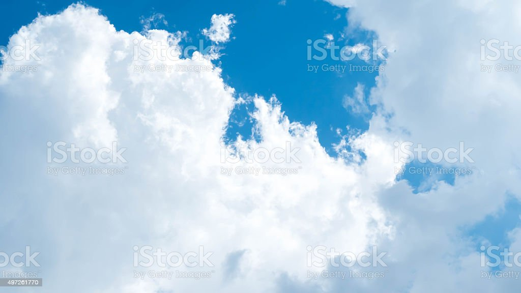 Clouds with blue sky closeup stock photo