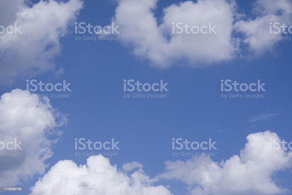 Clouds With Blue Sky Copy Space royalty-free stock photo