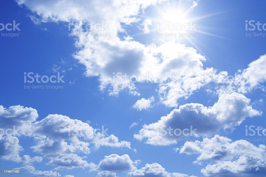 Clouds with bright sun background royalty-free stock photo