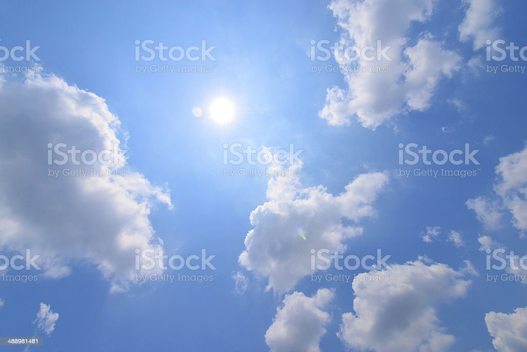 clouds with Sun stock photo