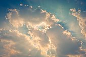 Clouds With Sun Rays Behind
