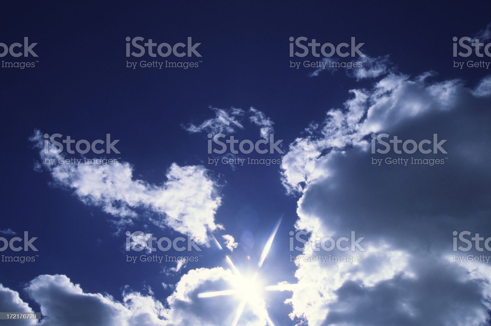 Clouds with sunlight royalty-free stock photo