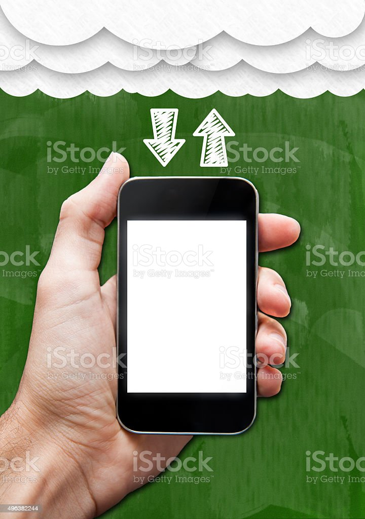 Cloudscape and Wireless / Greenboard concept (Click for more) stock photo