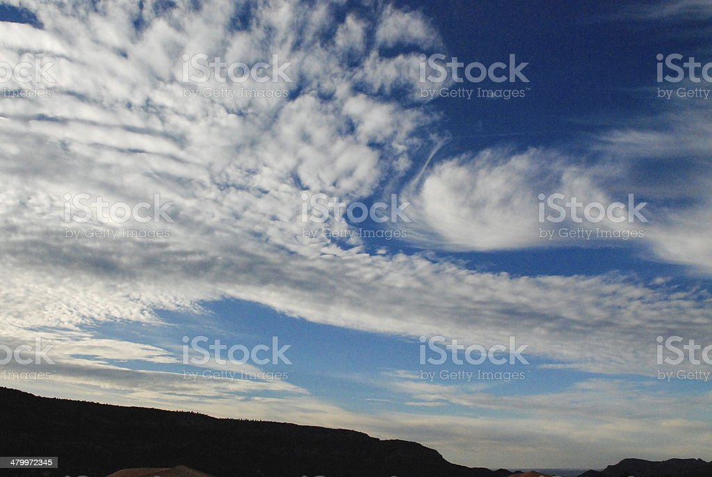 Cloudscape at Coral Pink Sand Dunes State Park Utah stock photo