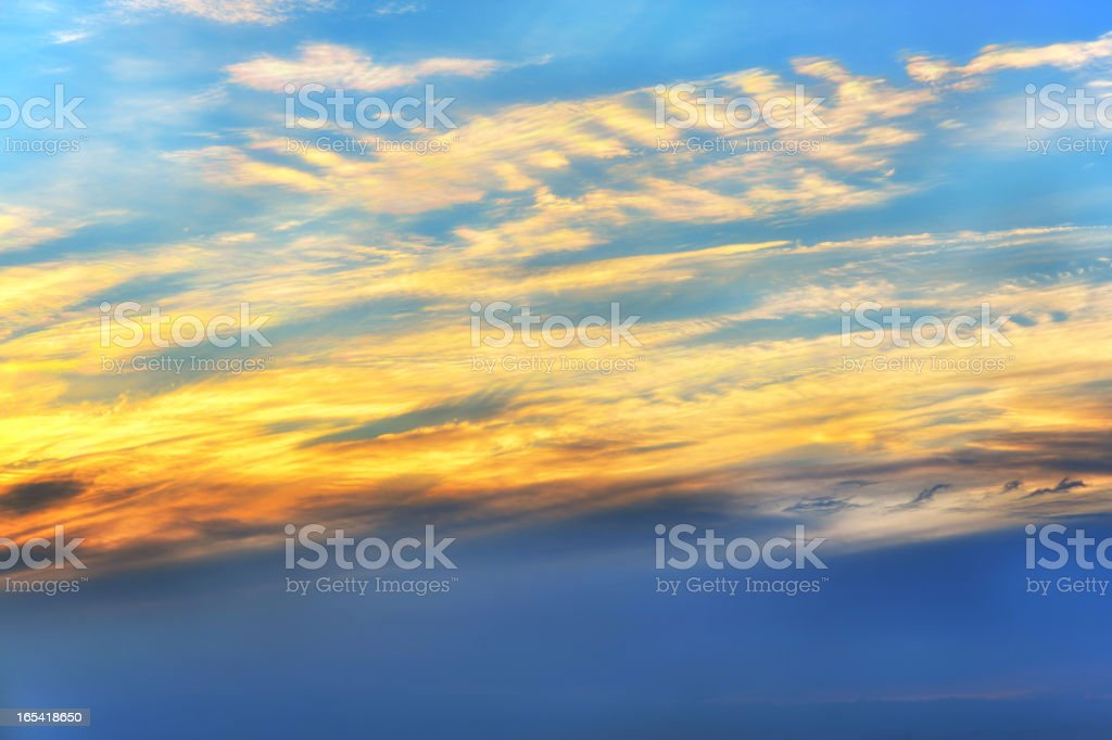 Cloudscape at sunset royalty-free stock photo