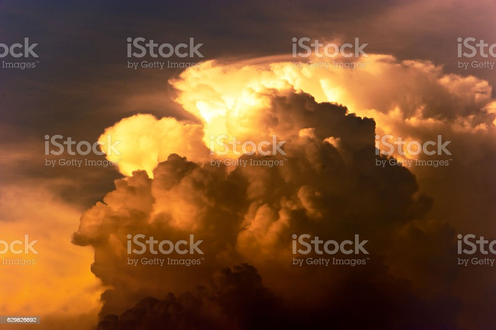 Cloudscape at sunset stock photo