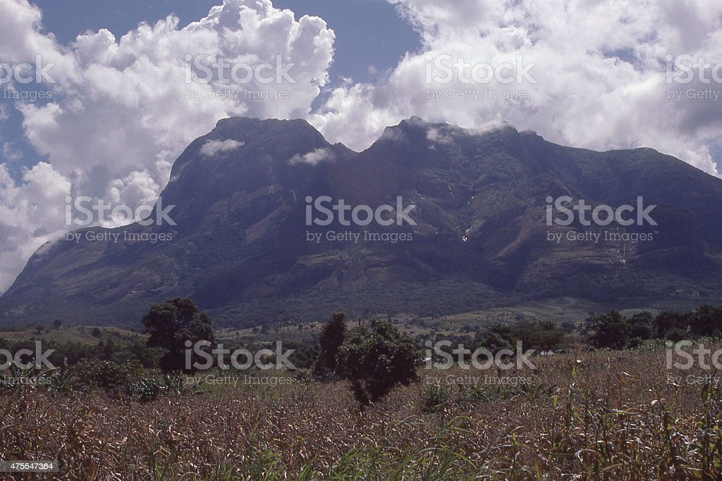 Cloudscape beuilding over Mulanje Massif in south Malawi Southern Africa stock photo