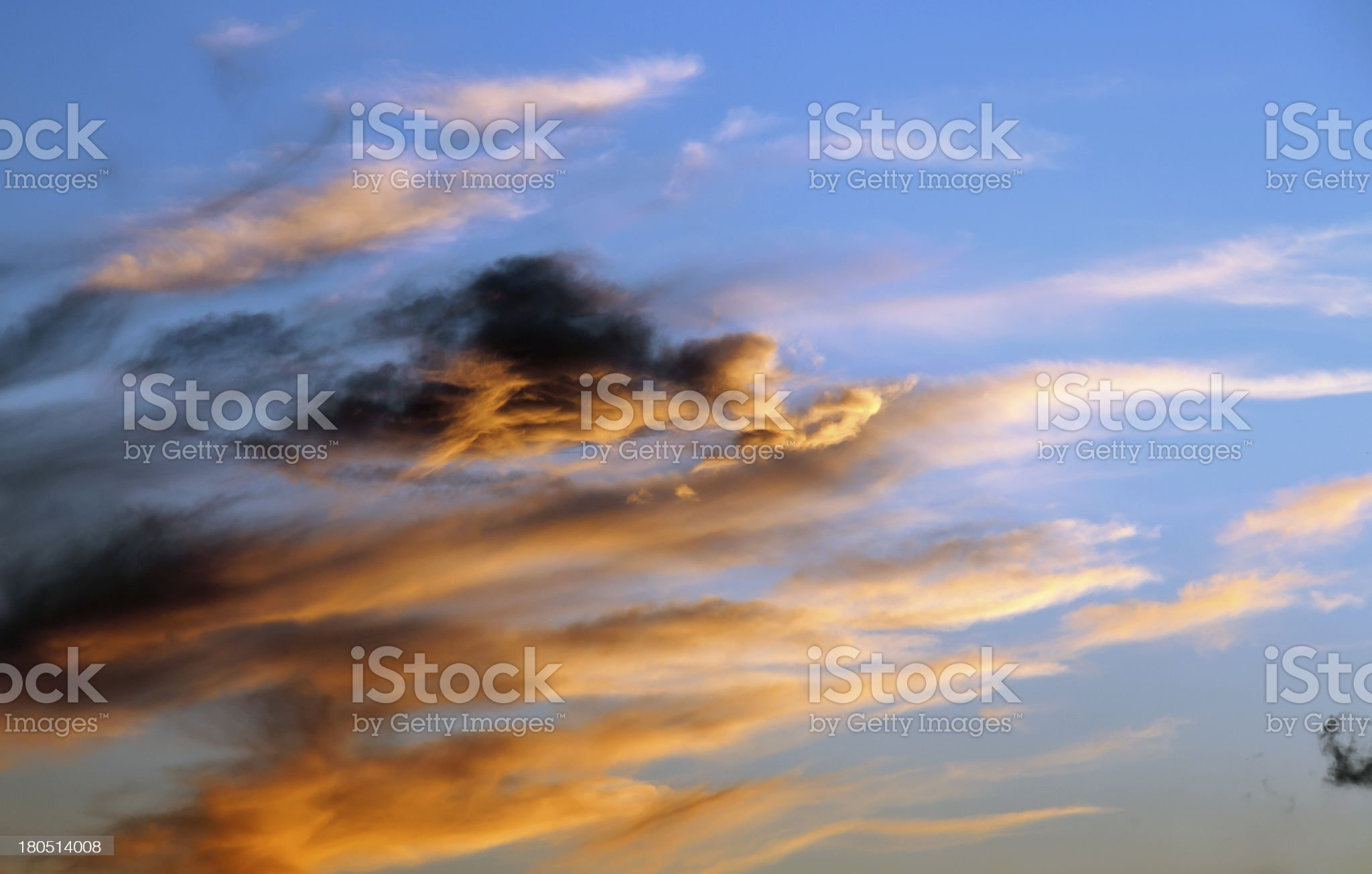 Cloudscape by sunset royalty-free stock photo