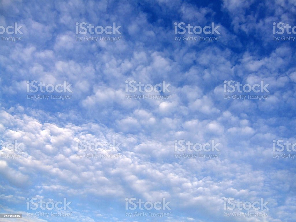 Cloudscape - Cirrocumulus royalty-free stock photo