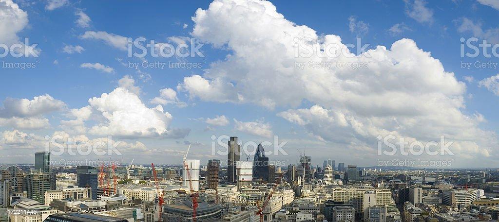Cloudscape city, London royalty-free stock photo