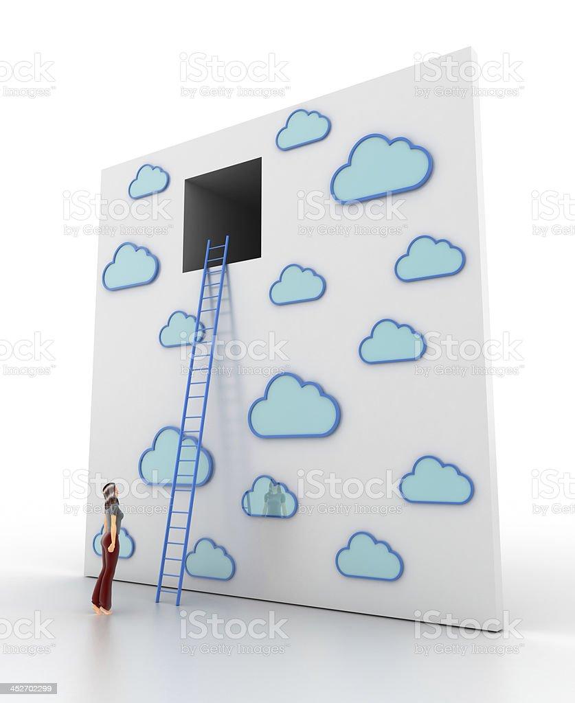 Cloudscape Escape royalty-free stock photo