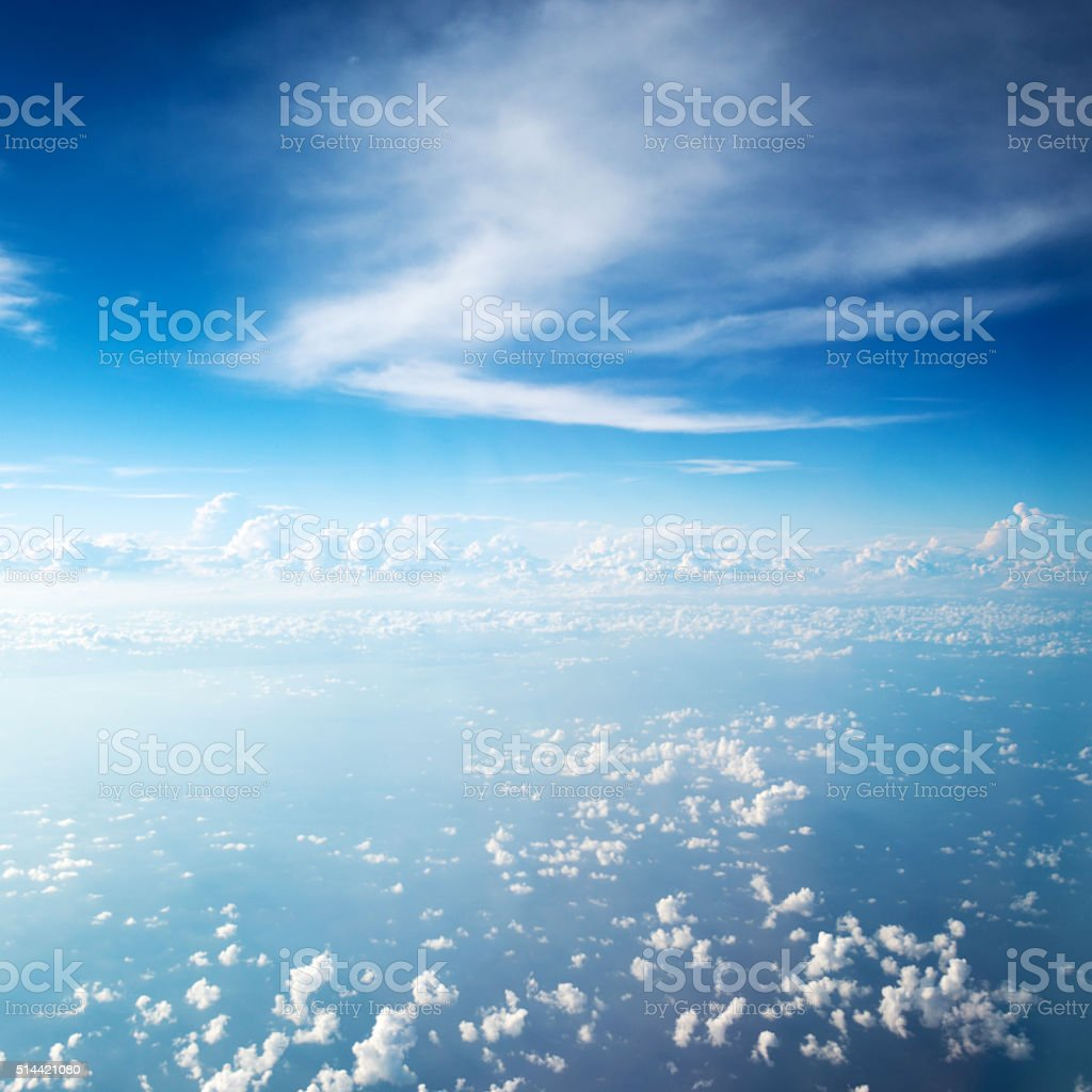 Cloudscape for background stock photo