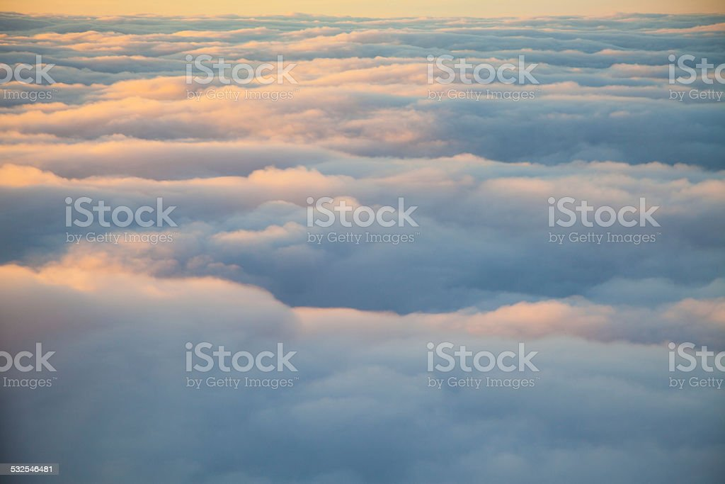Cloudscape from above stock photo