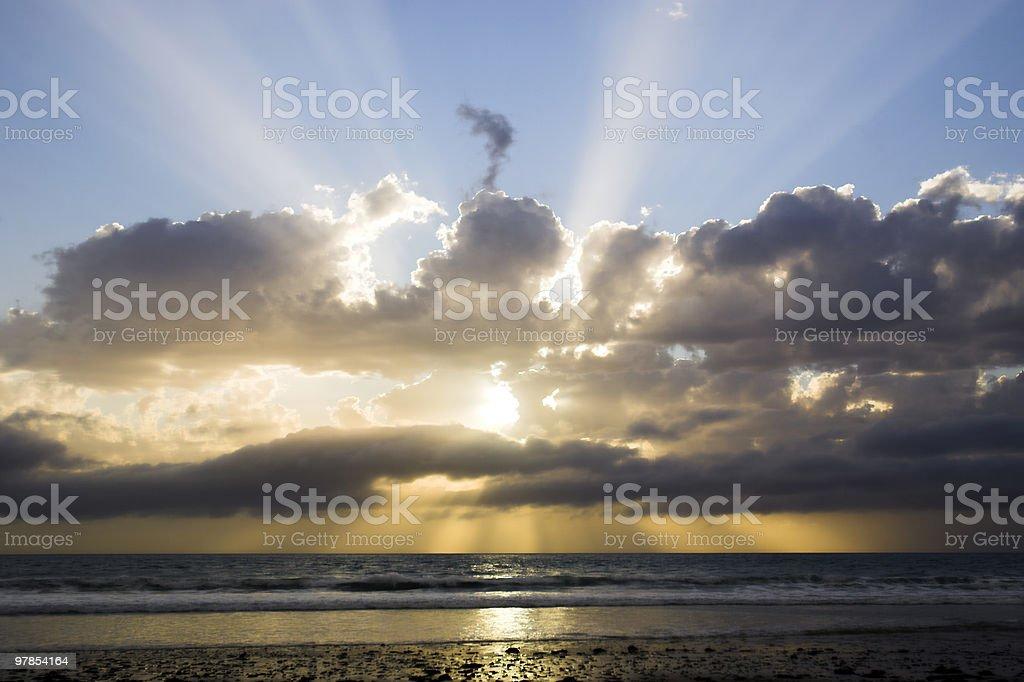 Cloudscape, God Beams royalty-free stock photo