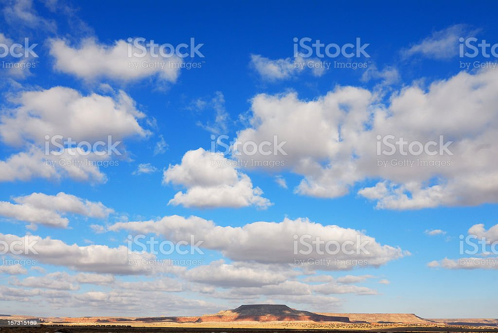 Cloudscape in New Mexico royalty-free stock photo