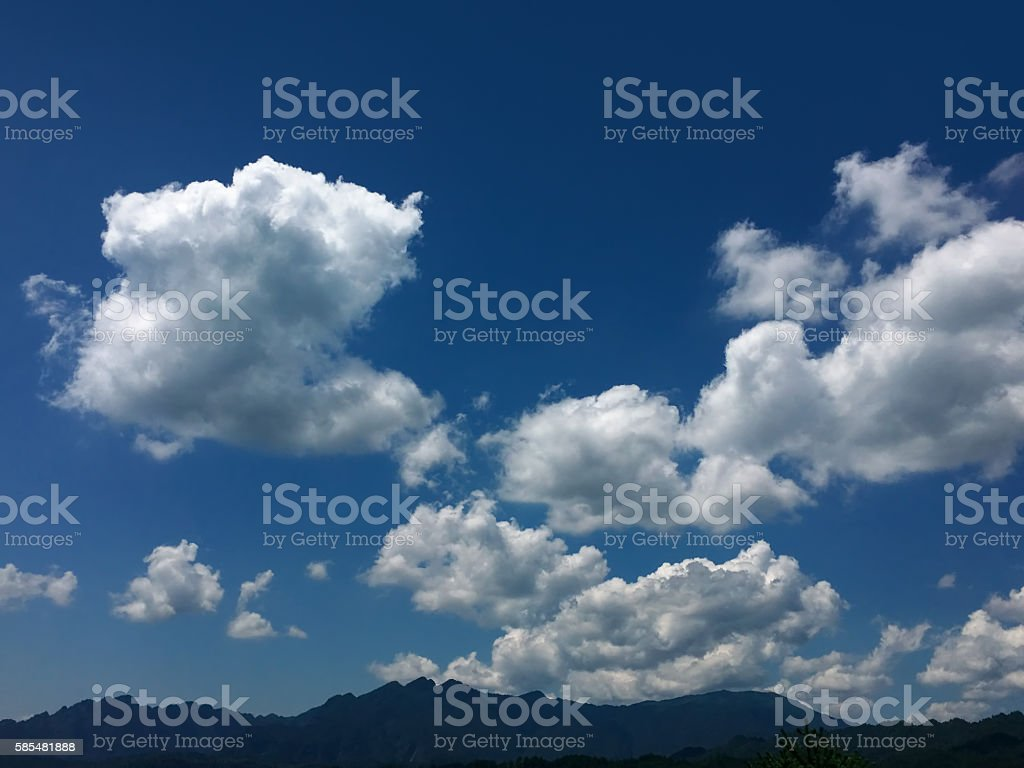 Cloudscape in summer stock photo