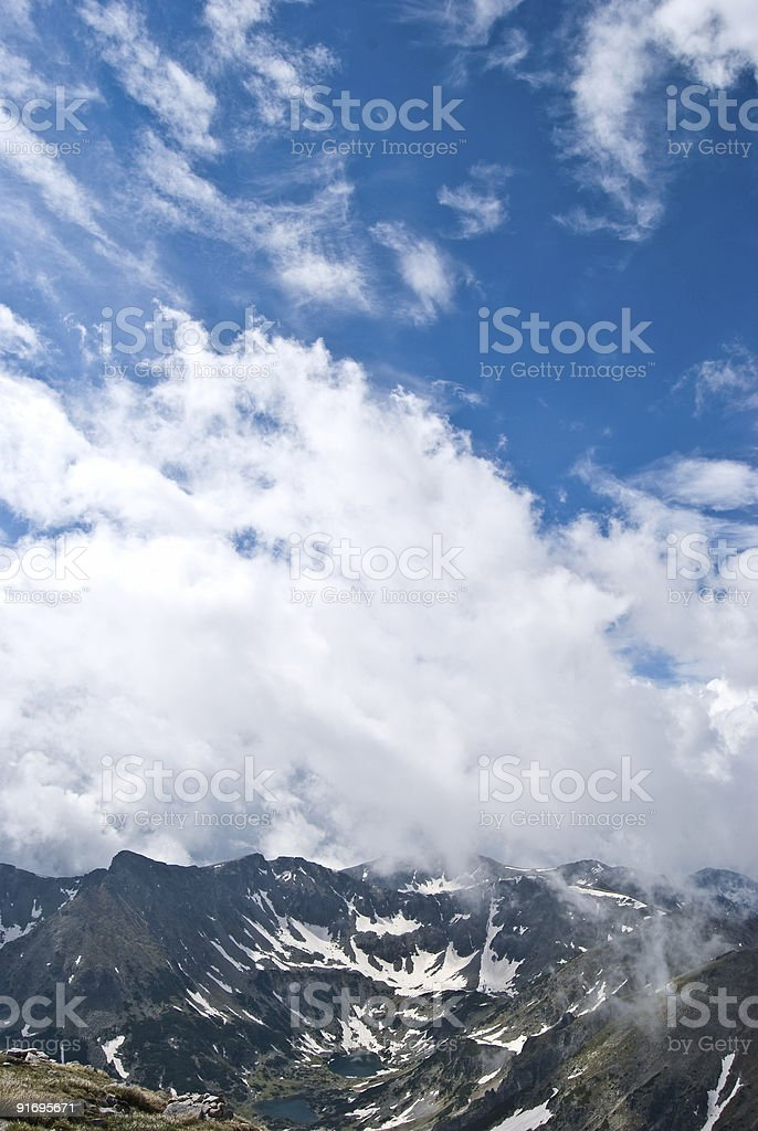 Cloudscape in the mountain royalty-free stock photo