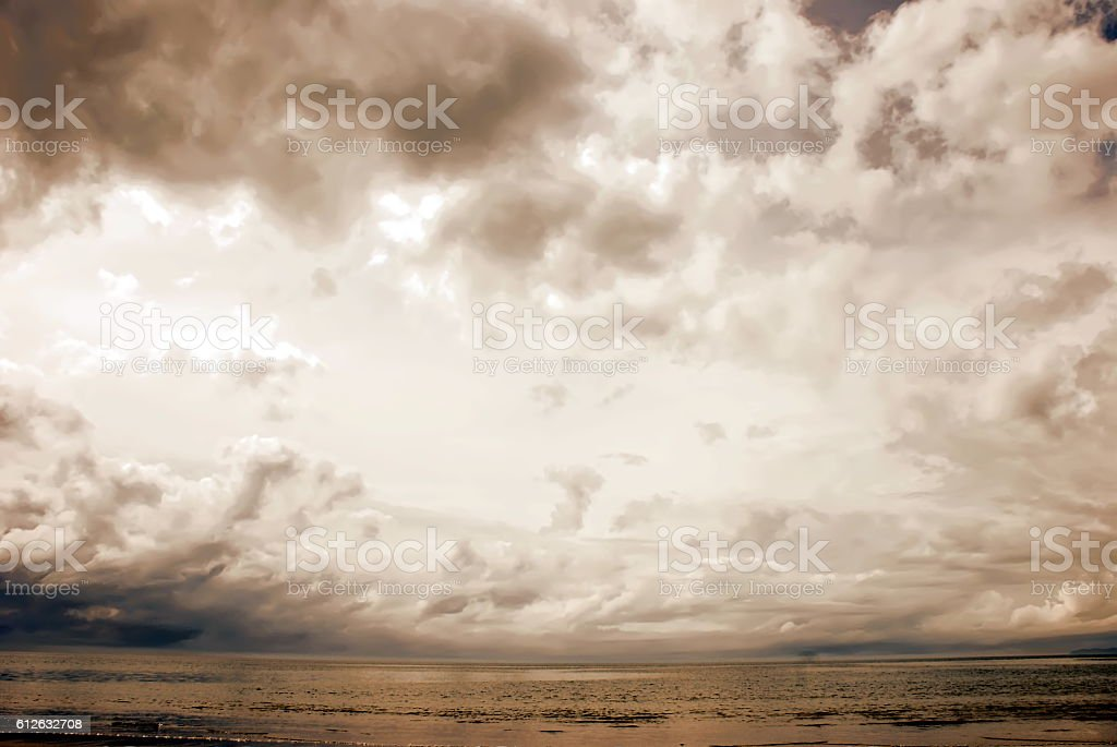 Cloudscape Landscape in Soft Focus stock photo