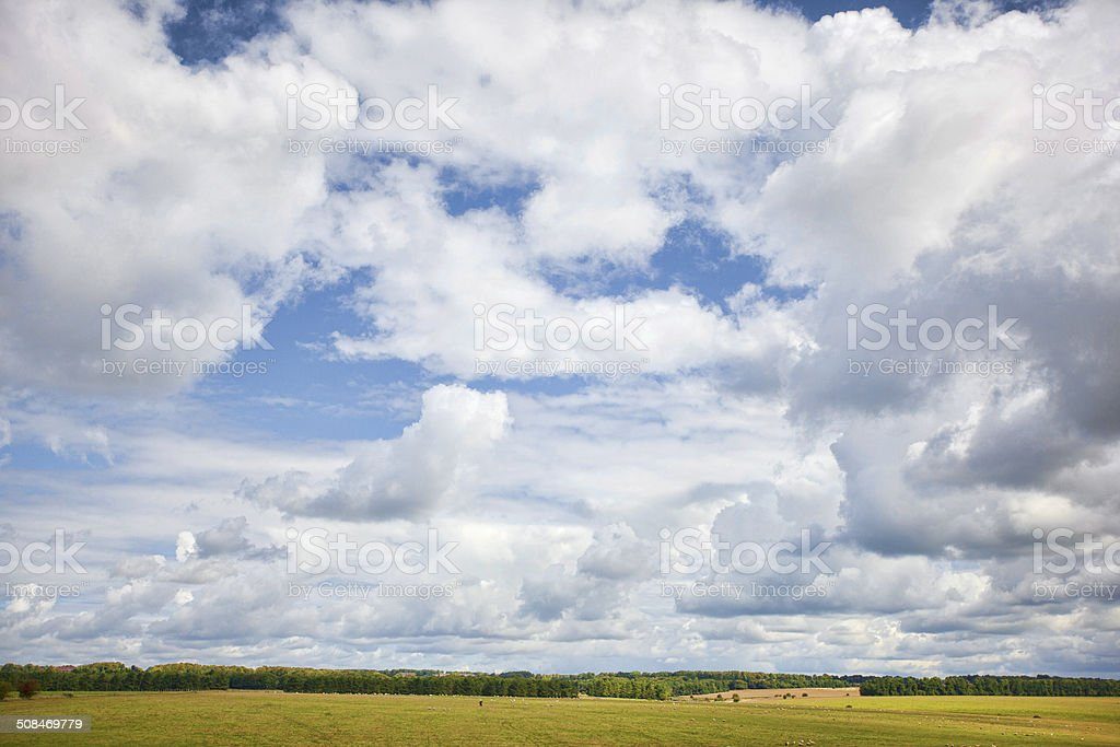 Cloudscape of Salisbury Plain royalty-free stock photo