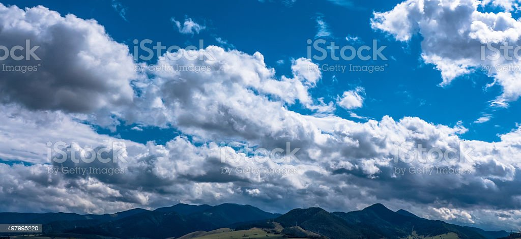 Cloudscape on the sky stock photo