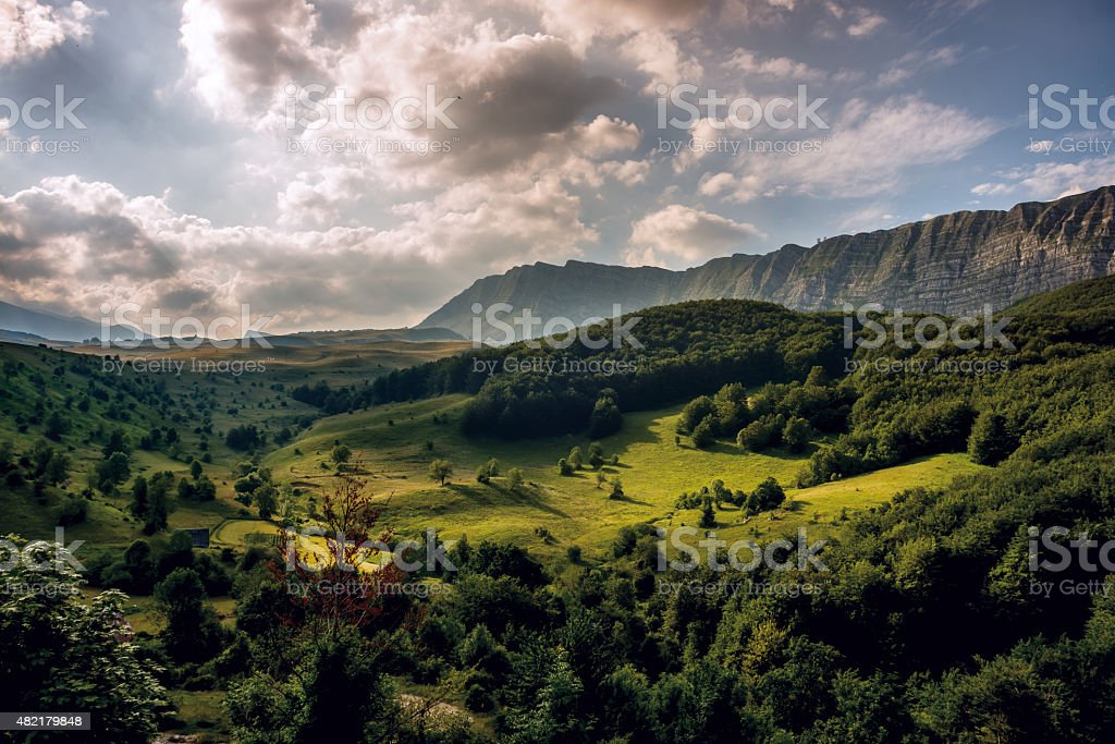 Cloudscape over Cemerno, Bosnia and Herzegovina stock photo