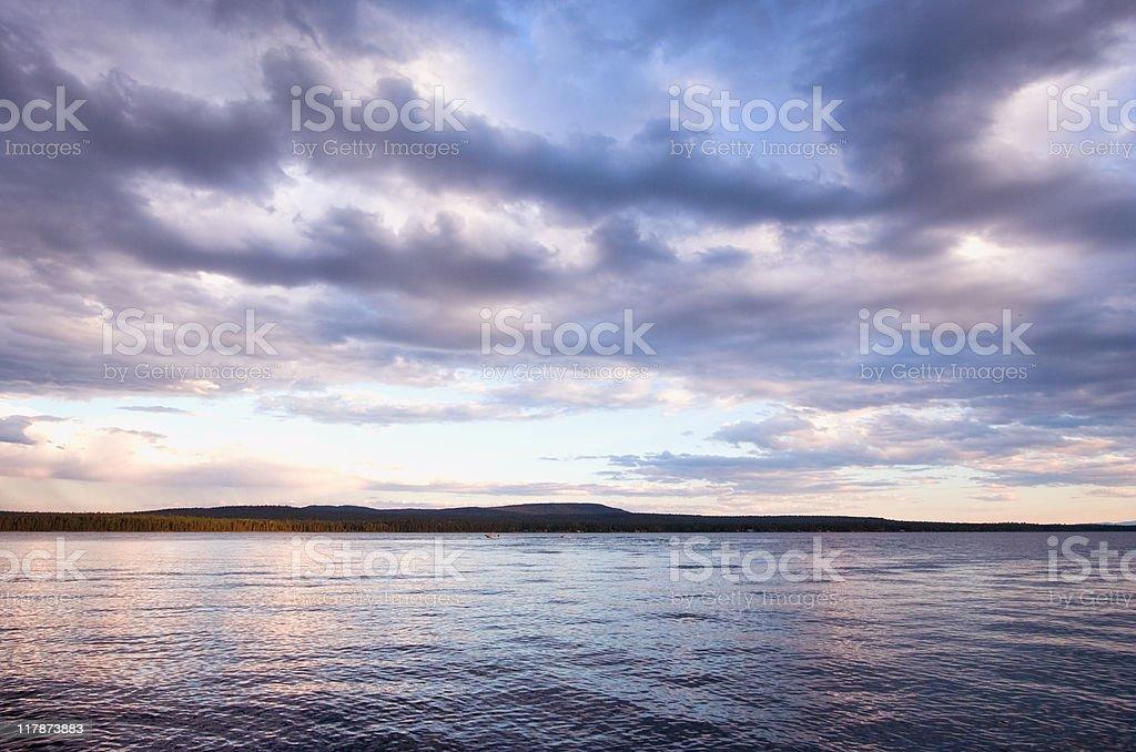 Cloudscape over Green Lake stock photo