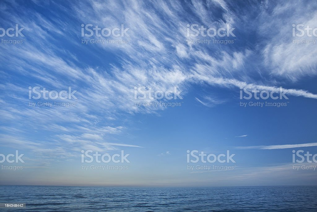 Cloudscape Over Lake Ontario stock photo