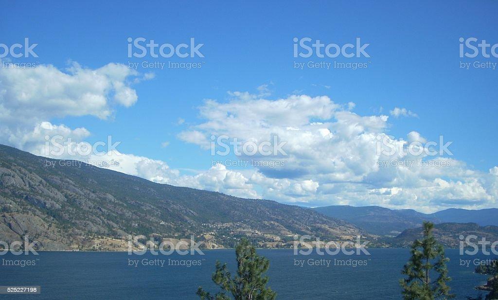 Cloudscape Over Lake stock photo