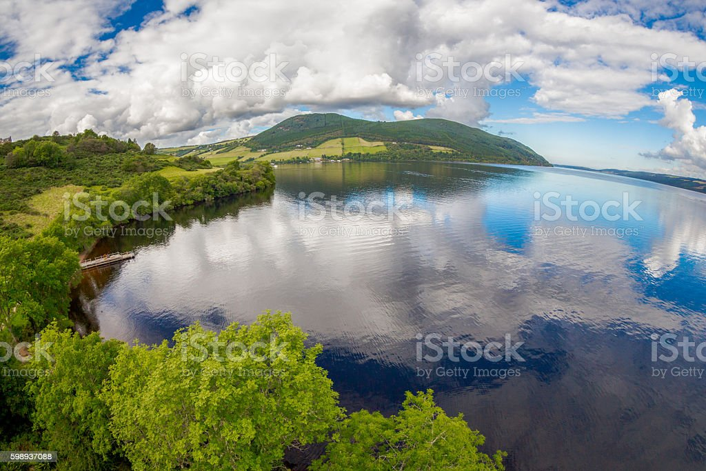 Cloudscape over Loch Ness stock photo