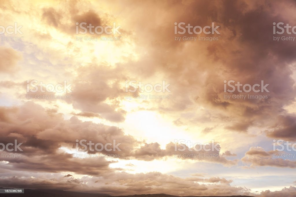 Cloudscape over Mountains stock photo